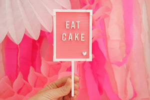 "Pink Letter Board Cake Topper - ""Eat Cake"" - Ellie and Piper"