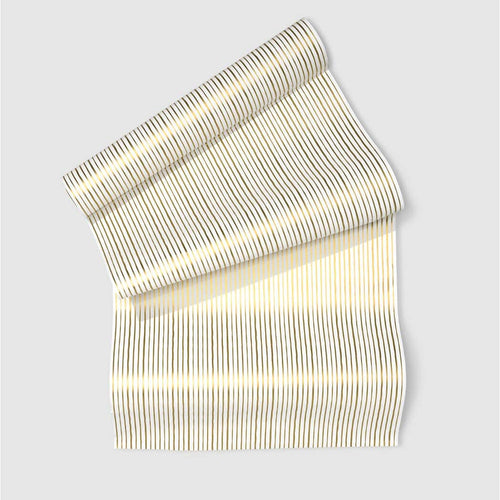 Gold Pinstripe Table Runner - Ellie and Piper