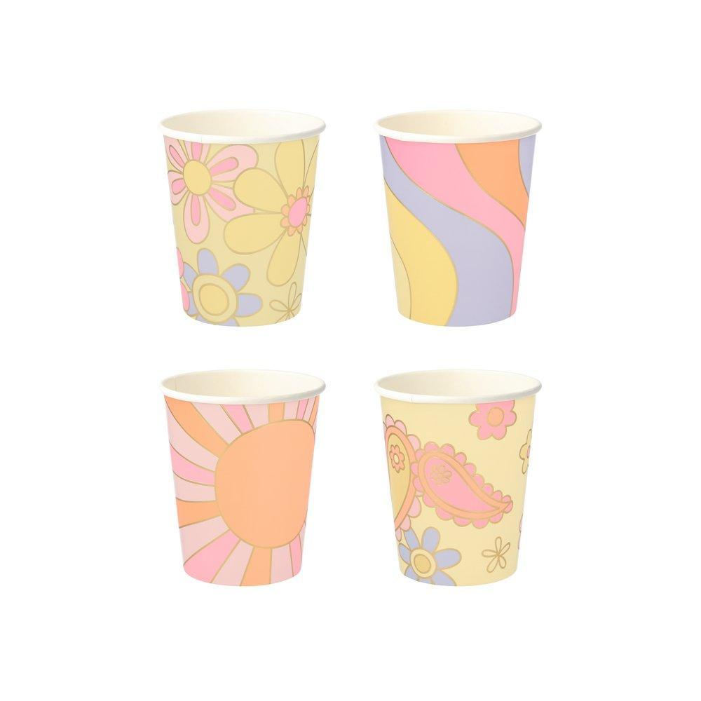 Psychedelic 60s Party Cups - Ellie and Piper