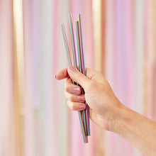 Rainbow Stainless Steel Metal Straws - Ellie and Piper