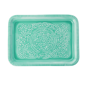 Mint Green Metal Tray - Ellie and Piper
