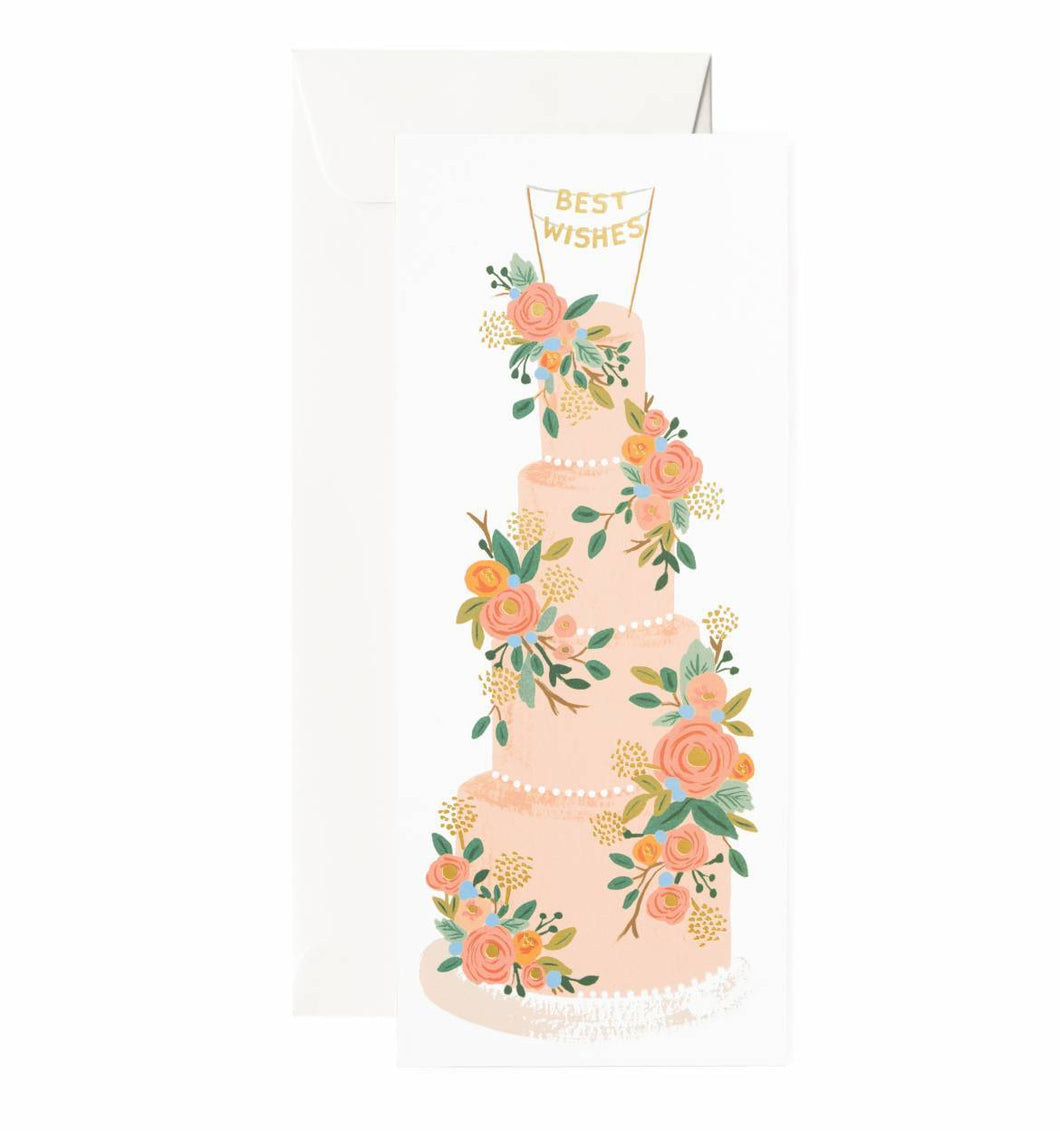 Tall Wedding Cake Card - Ellie and Piper