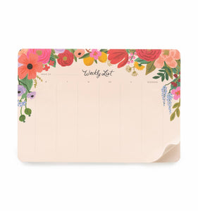 Rifle Paper Co Garden Party Weekly Desk Pad