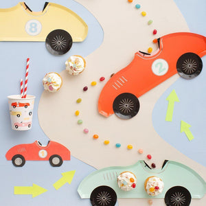 Race Car Paper Party Plates - Ellie and Piper