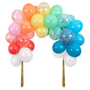 Rainbow Balloon Arch Kit with Tassels - Ellie and Piper