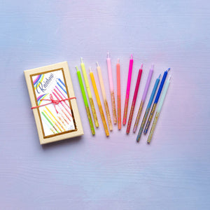 Rainbow Birthday Candles - Set of 24 - Ellie and Piper