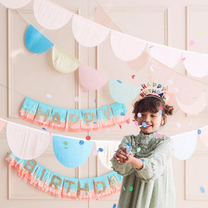 Rainbow Tissue Paper Scallop Garlands - Ellie and Piper