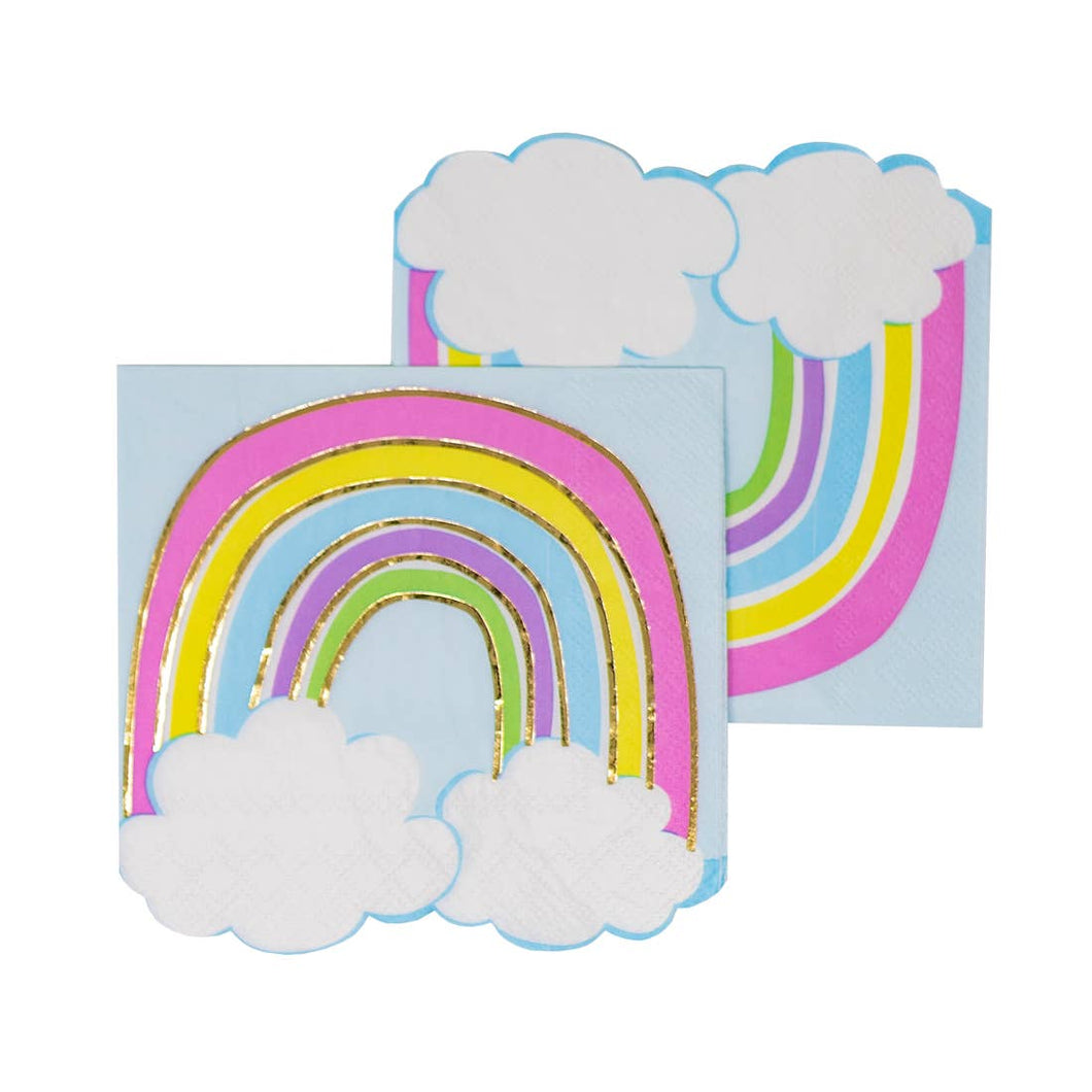 Rainbow With Clouds Cocktail Napkins - Ellie and Piper