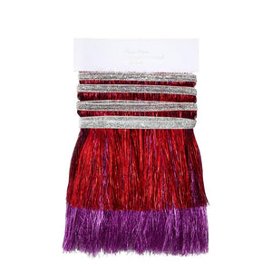 Red and Pink Tinsel Fringe Garland
