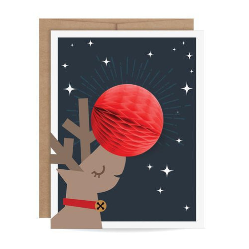 Reindeer Pop-Up Holiday Card