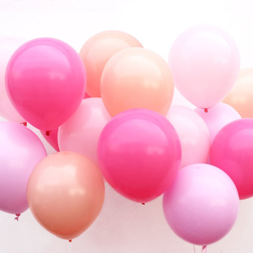Assorted Shades of Rose Balloons - Ellie and Piper