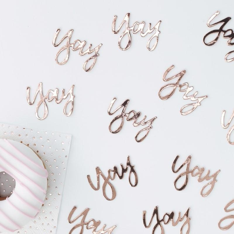 Rose Gold 'Yay' Confetti