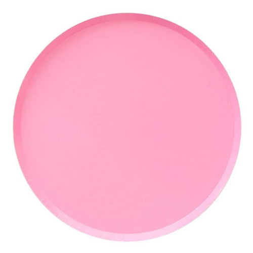 Rose Pink Large Paper Plates - Ellie and Piper