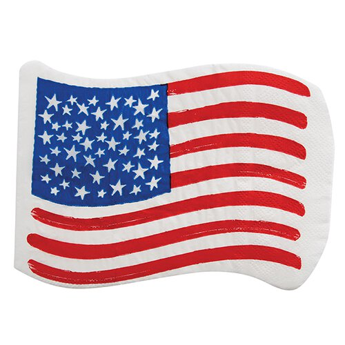 USA Flag Shaped Large Napkins - Ellie and Piper
