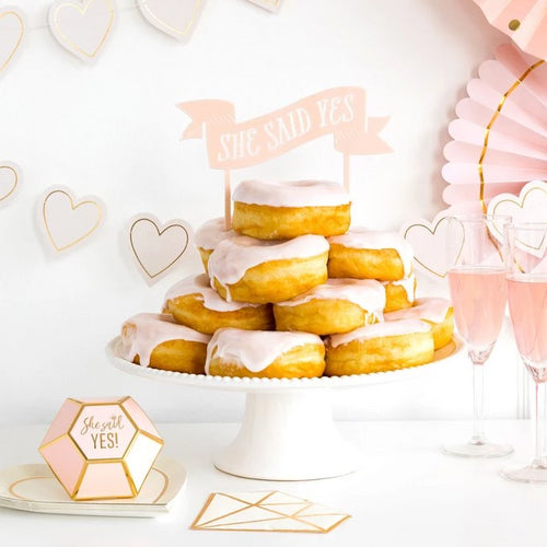 She Said Yes Cake Topper Ellie & Piper Party Boutique
