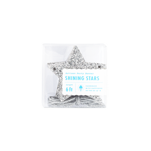 Silver Glitter Shining Stars Garland - Ellie and Piper