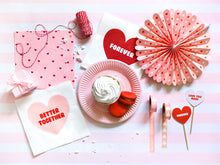 Sweet Love Notes Napkins - Ellie and Piper