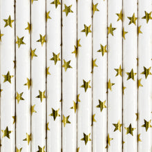 Gold Stars Straws - Ellie and Piper