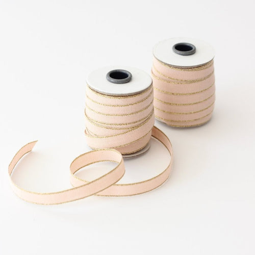 Drittofilo Cotton Ribbon - Blush/Gold Ellie & Piper Party Boutique
