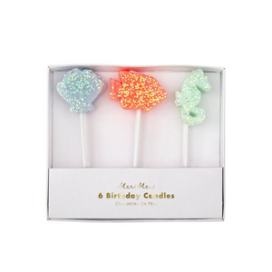 Sea Creature Glitter Candles - Ellie and Piper
