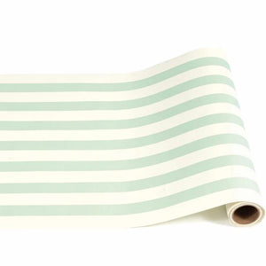 Seafoam Blue/Mint Green Classic Stripe Table Runner - Ellie and Piper