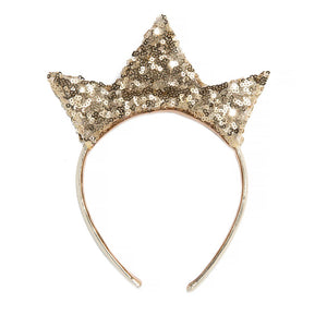 Gold Sequin Crown Headband - Ellie and Piper