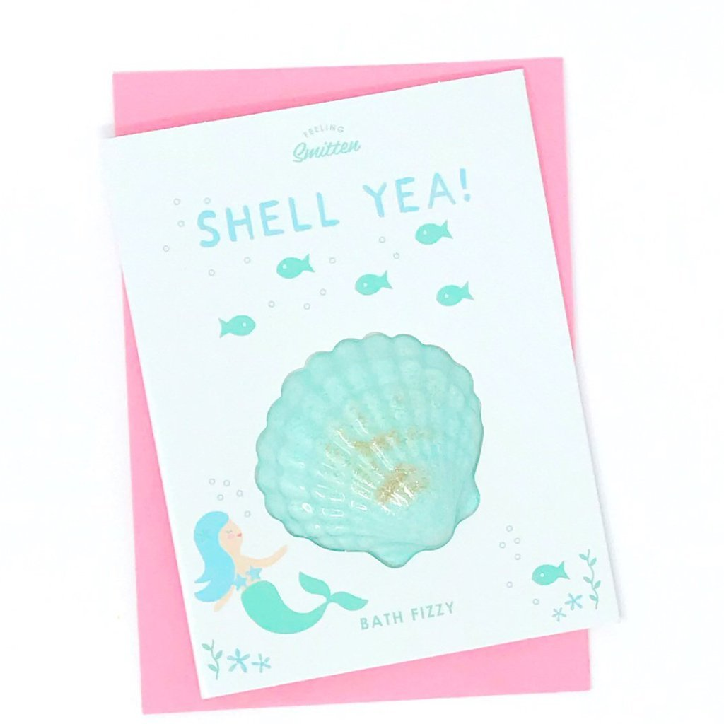 Shell Yea! Bath Bomb Greeting Card - Ellie and Piper