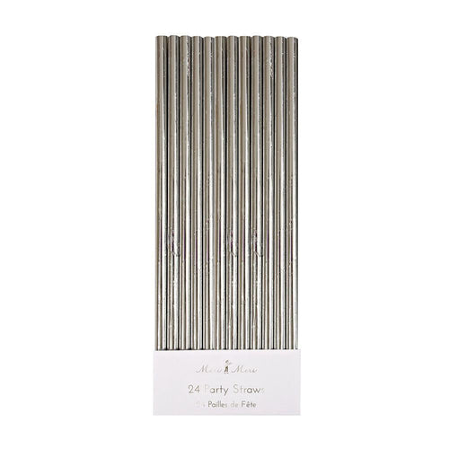 Silver Foil Party Straws - Ellie and Piper