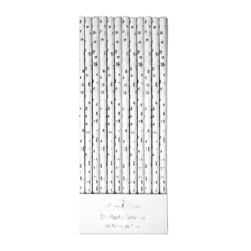 Silver Foil Star Straws - Ellie and Piper