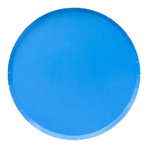 Pool Blue Large Paper Plates - Ellie and Piper