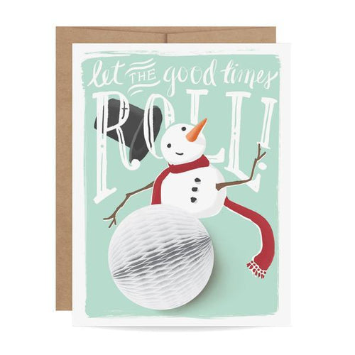 Snowman Pop-Up Holiday Card - Ellie and Piper