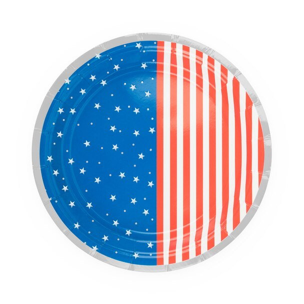 Stars & Stripes Appetizer Plates - Ellie and Piper
