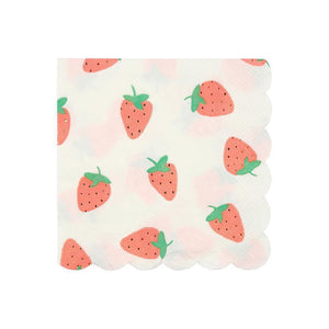 Strawberry Small Napkins - Ellie and Piper