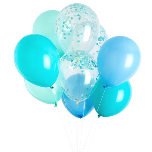 Poolside Blue Balloon Bouquet