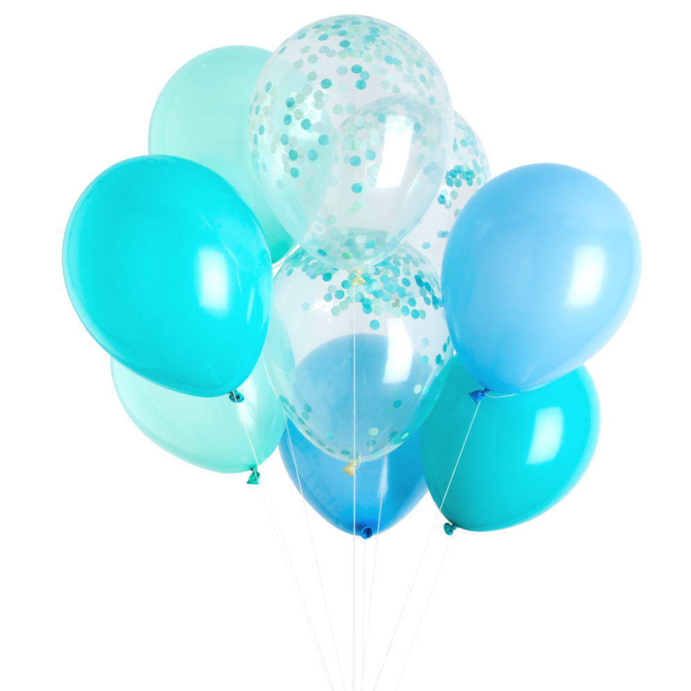 Poolside Blue Balloon Bouquet - Ellie and Piper