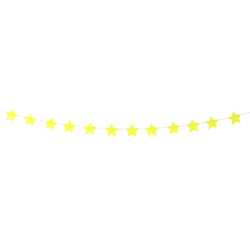 Tinsel Yellow Shining Stars Garland