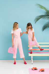 Retro Basket - Peach (2 sizes) - Ellie and Piper