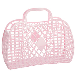 Large Retro Basket - Light Pink - Ellie and Piper