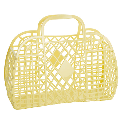 Large Retro Basket - Yellow - Ellie and Piper