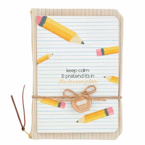 Pencil Teacher Notebook + Pouch Gift Set - Ellie and Piper