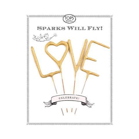 Sparkler Card Mini Gold LOVE - Ellie and Piper