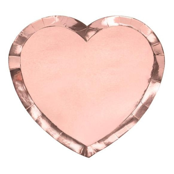 Rose Gold Heart Shaped Paper Plate - Ellie and Piper