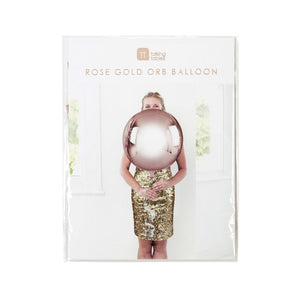 Metallic Orb Balloon Rose Gold