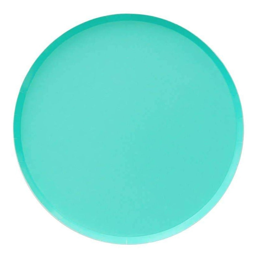 Teal Paper Plates (2 sizes) - Ellie and Piper