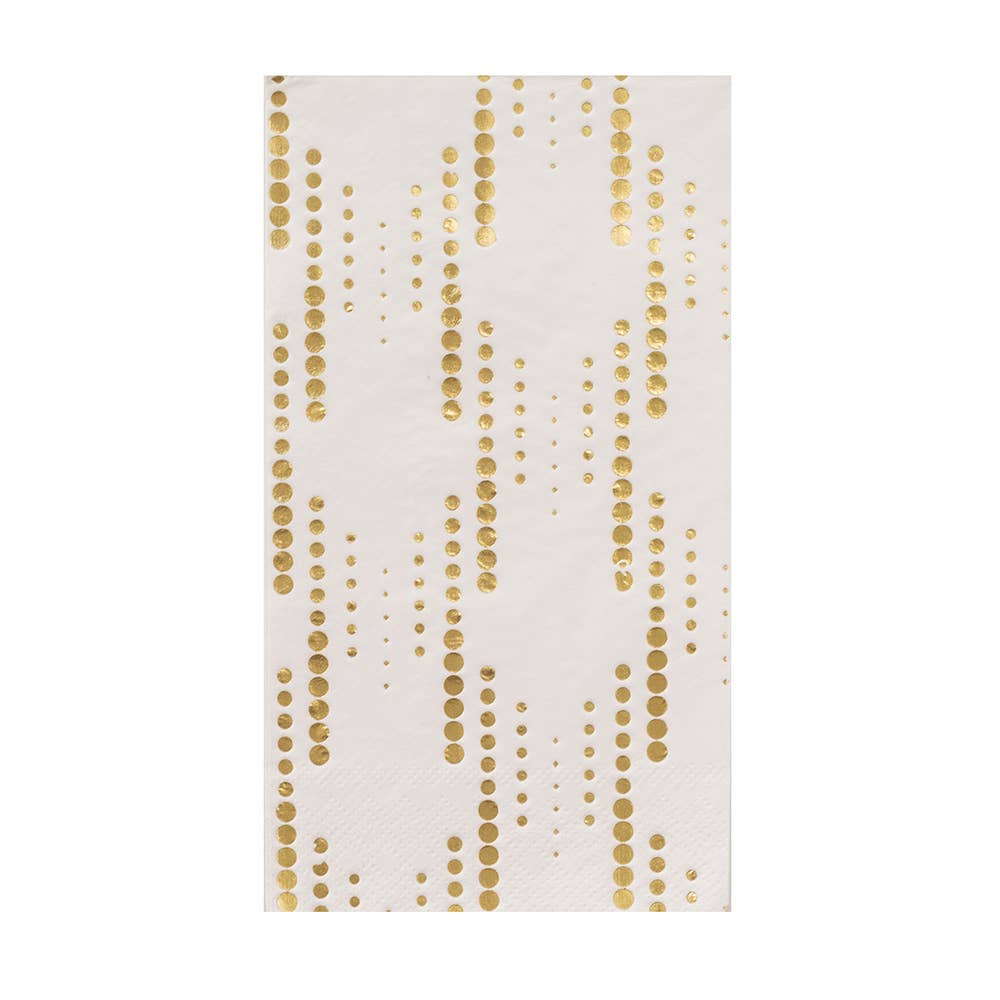 The Gatz White and Gold Guest Napkins