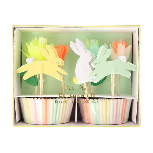 Floral Easter Bunny Cupcake Kit