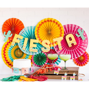 Fiesta Party Fan Decorations - Ellie and Piper