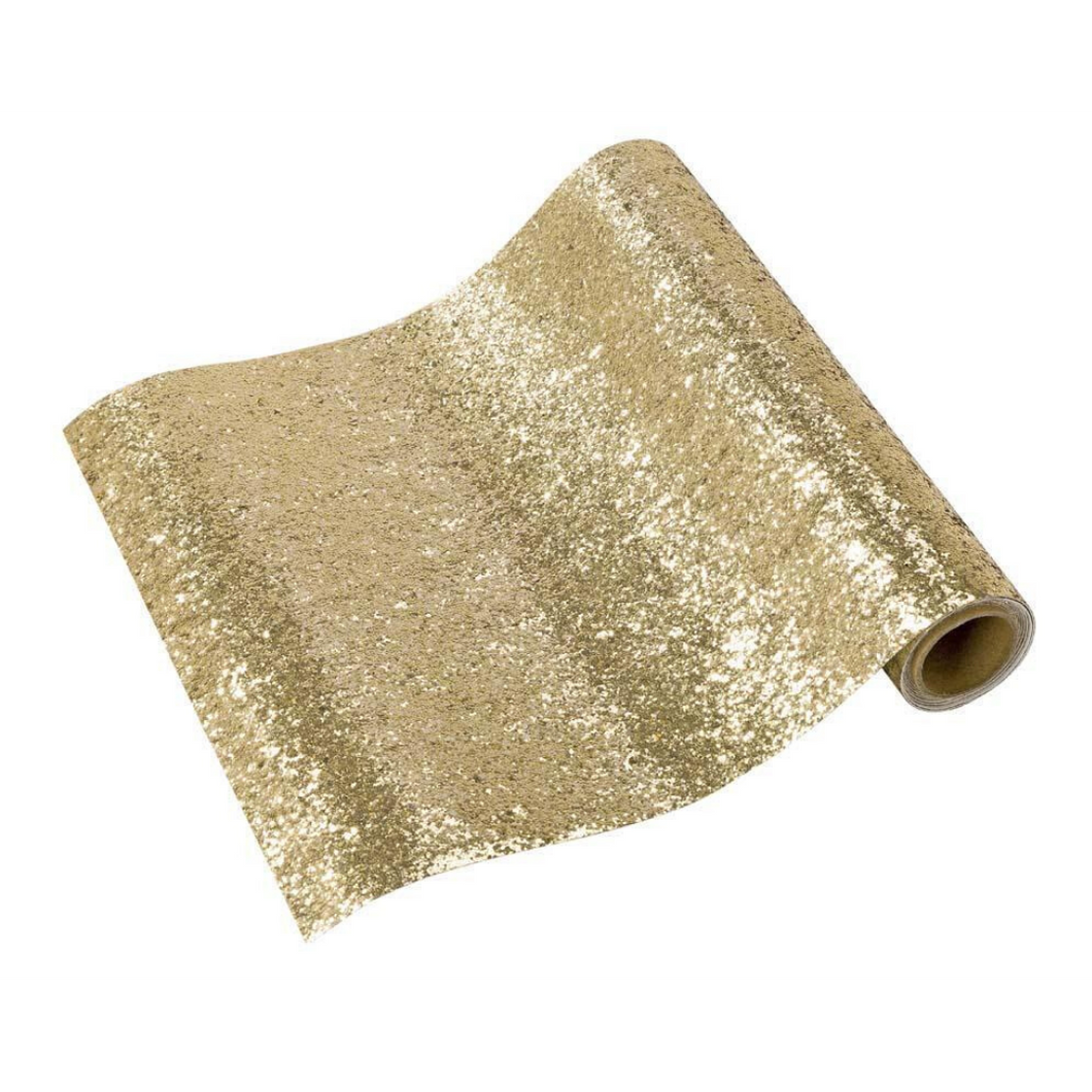 Luxe Gold Glitter Table Runner - Ellie and Piper