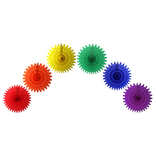 "Set of Six 18"" Rainbow Party Fan Decorations - Ellie and Piper"