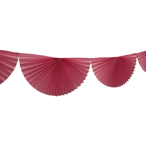 Tissue Paper Bunting Fan Garland - Rose Pink - Ellie and Piper